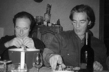 Daniel Richard et Maurice Barnouin, producteur du Domaine Gournier