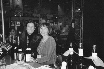 Virginie Taupenot et Marielle Fortin au Salon des Vins de Montréal